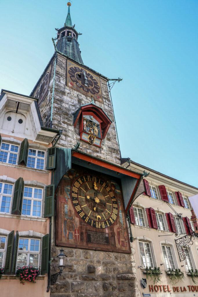 La torre dell'orologio a Soletta