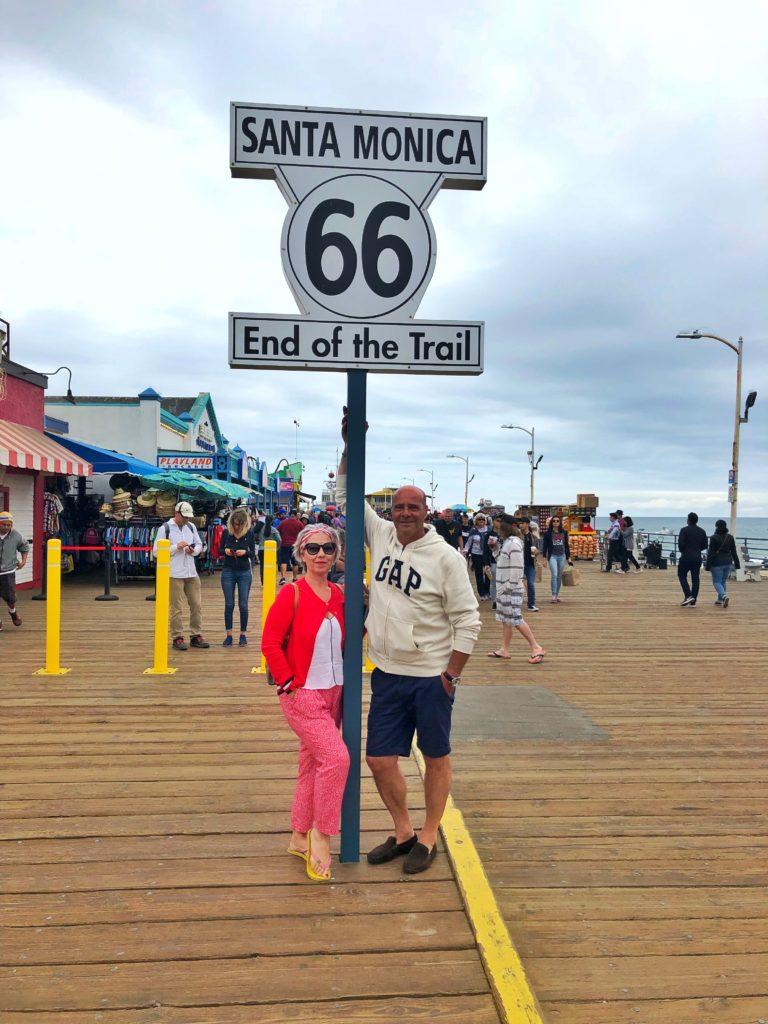 End of the trail Santa Monica California