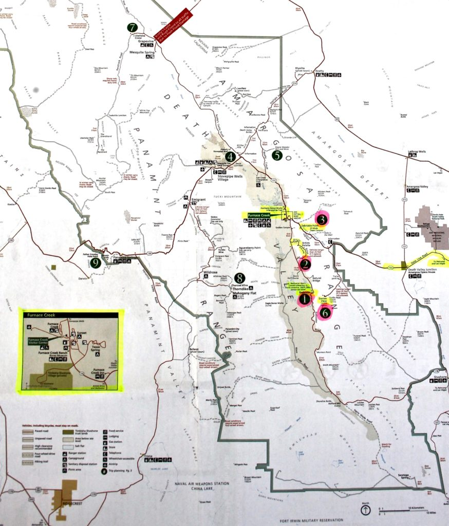 Map Death Valley