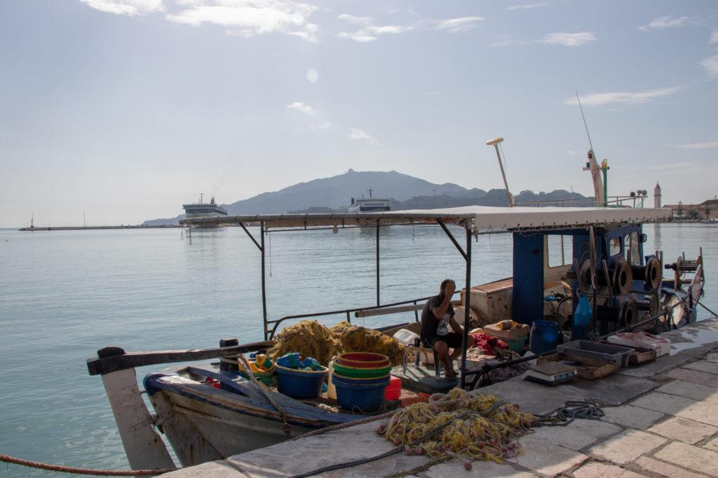 I pescatori al porto di Zante
