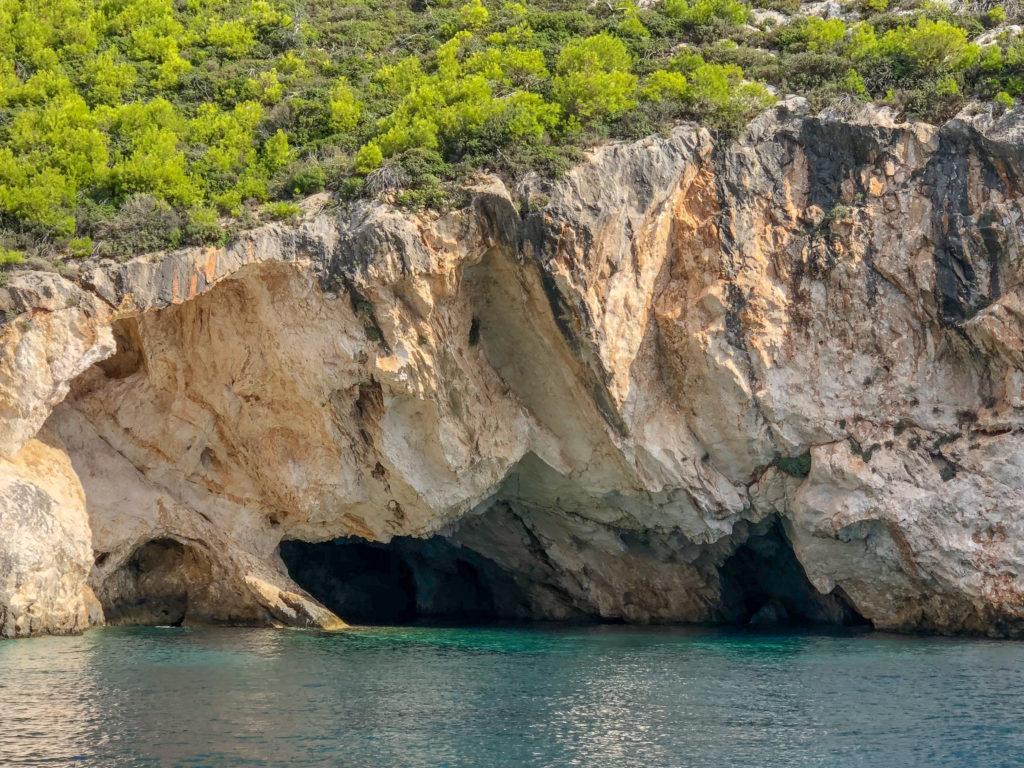 Il profilo di Dionisio visibile sulla roccia - Zante
