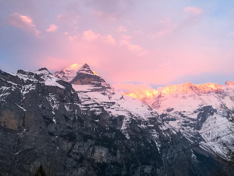 Vista sulle alpi da Mürren