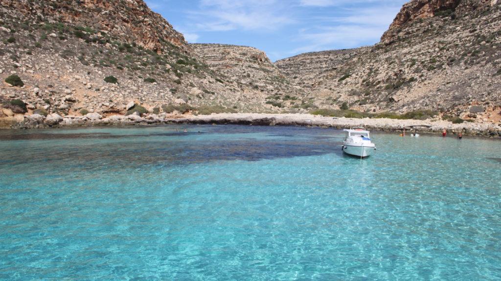 Lampedusa escursione in barca