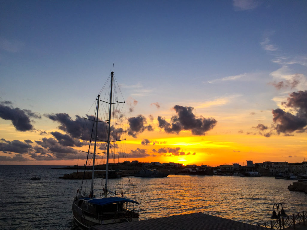 Tramonto a Lampedusa