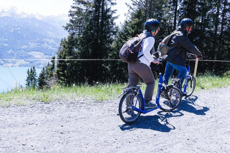 Discesa con il Monopattino dalla montagna del Niederhorn