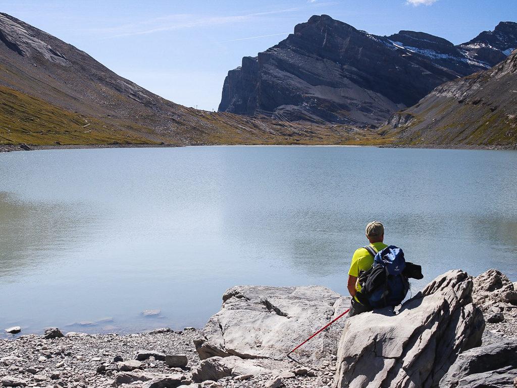 Escursione sul passo del Gemmi, Il lago di Dauben Svizzera