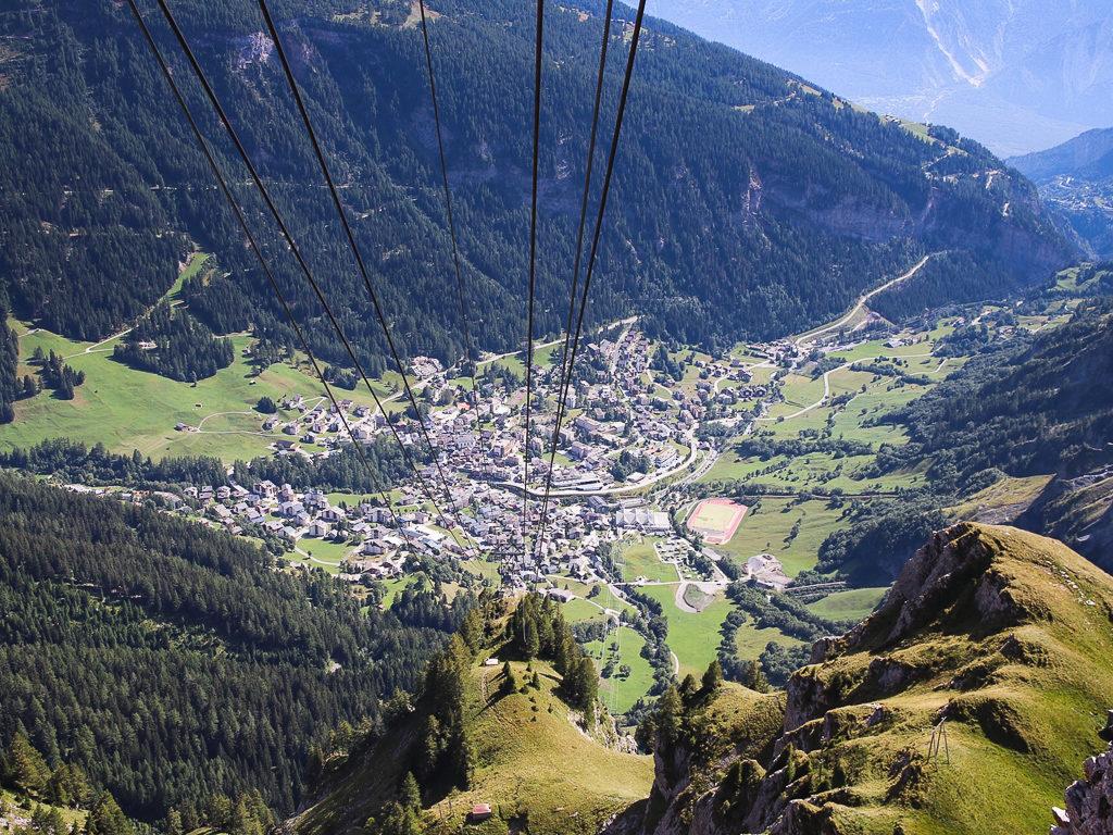 Escursione sul passo del Gemmi, Leukerbad vista dal Gemmi