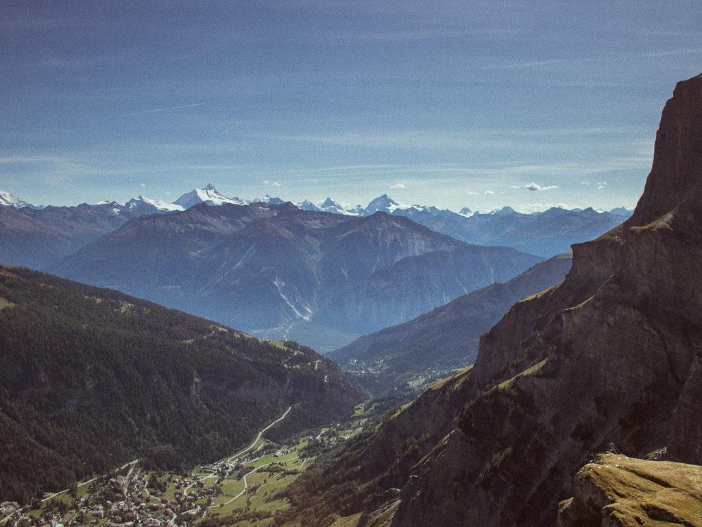Vista sulle alpi dal Gemmi