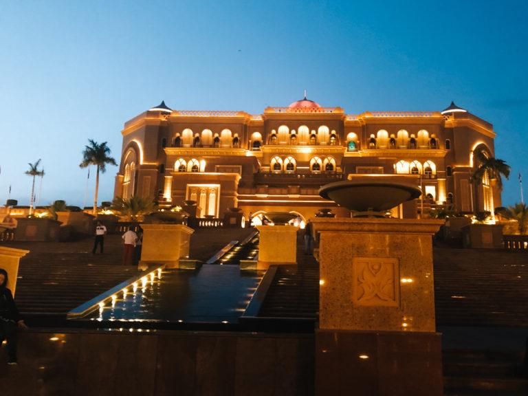 Emirates Palace Hotel by night