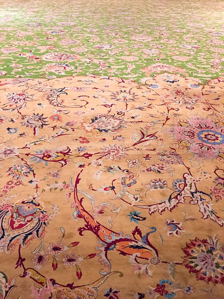 Famoso tappeto della moschea Sheikh Zayed