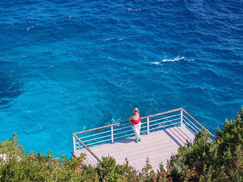 Il mare azzurro delI'isola di Zante