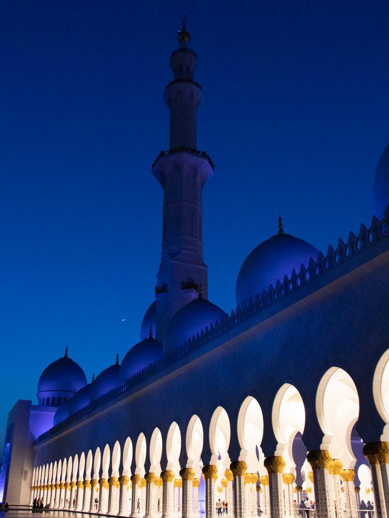 Moschea Abu Dhabi by night