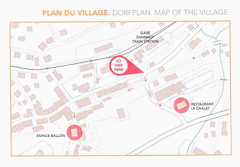 Mappa di Château-d'Oex
