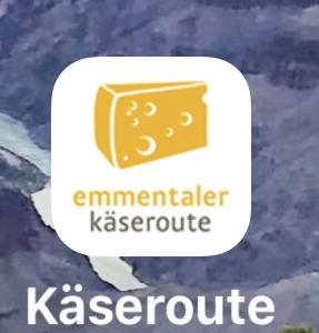 Applicazione strada del formaggio Emmentaler