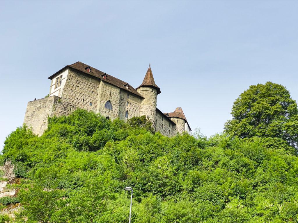Il castello di Burgdorf arroccato