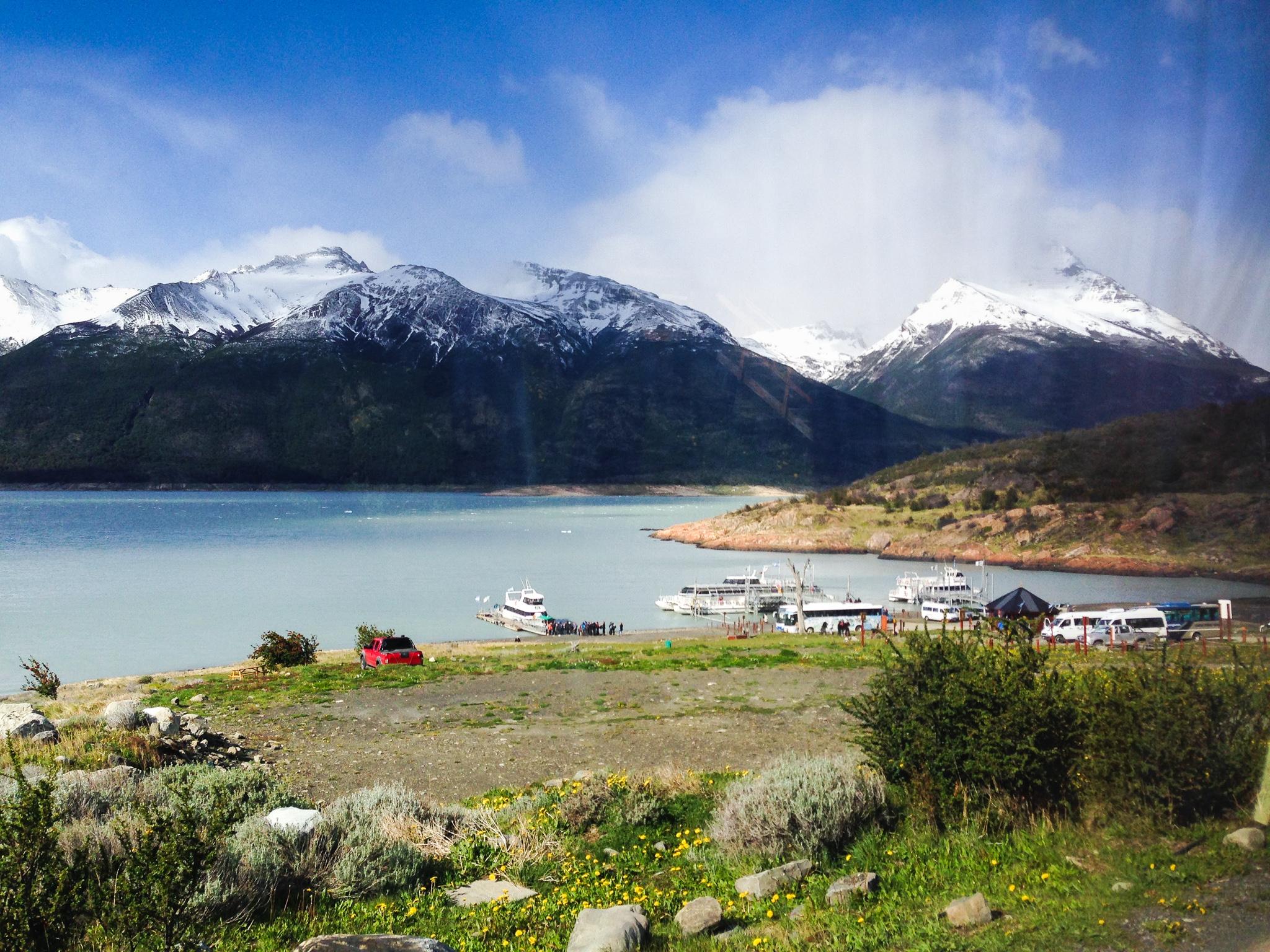 Lago Argentino, punto d'imbarco per visitare il Perito Moreno