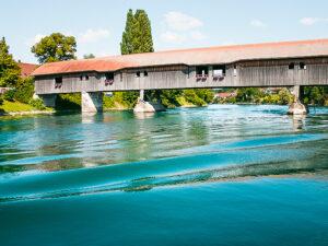 ponte di legno di Büren an der Aare