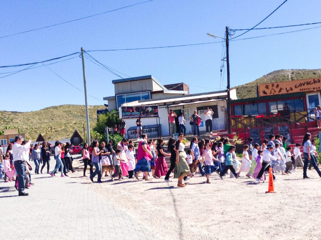 Festa del paese a Puerto Piramides