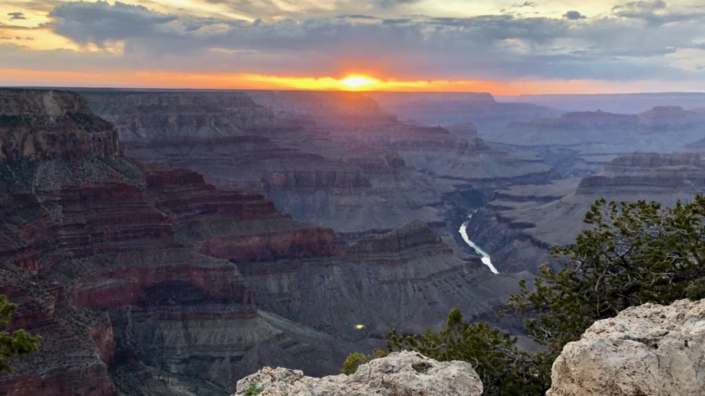 Tramonto al Grand Canyon