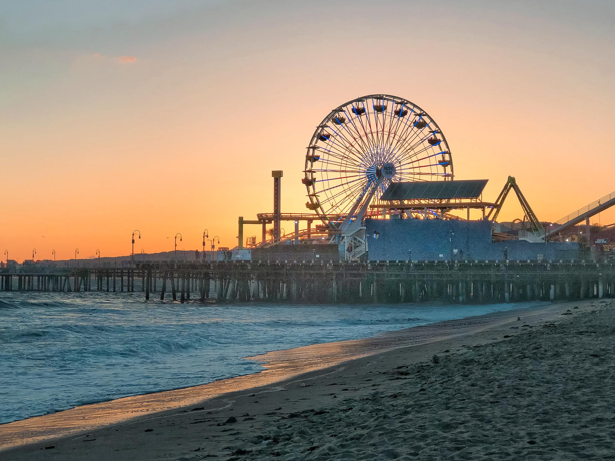 Santa Monica tramonto