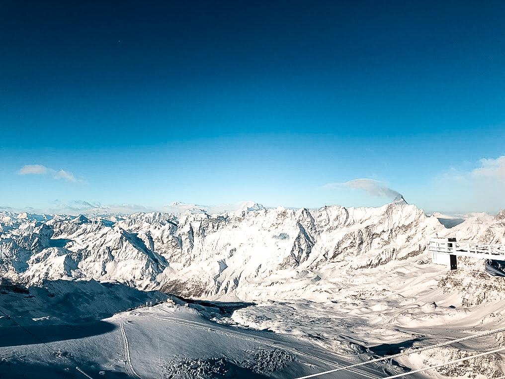 Vista dal Gornergrat sugli alpini