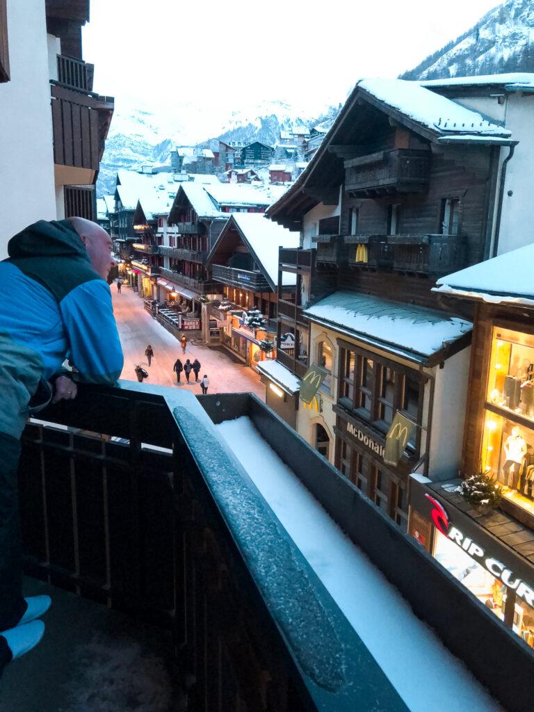 Vista dall'Hotel Schweizerhof
