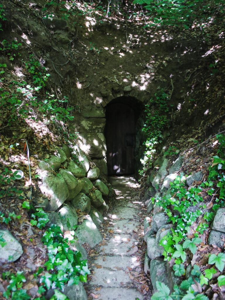Entrata grotta sorgente d'acqua
