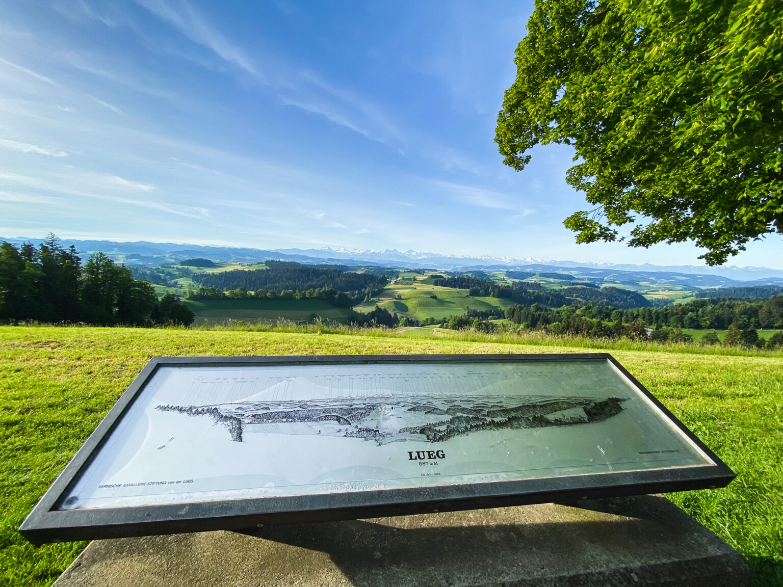 Vista dal Monumento del Lueg