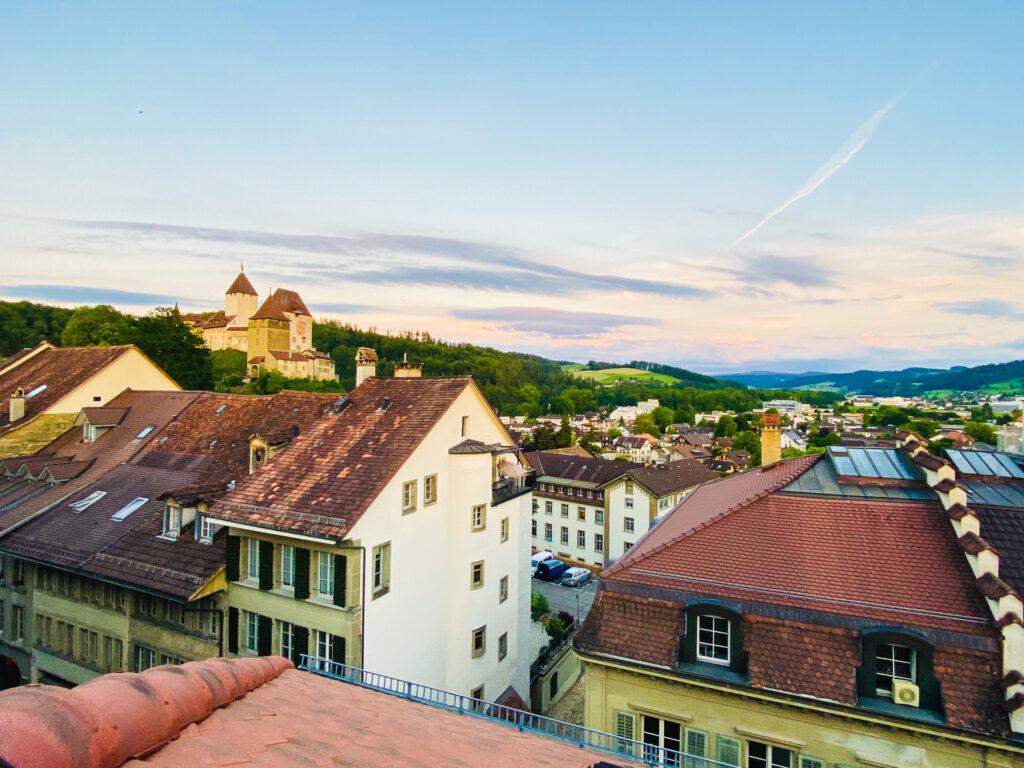 Vista su Burgdorf dal Hotel Orchidee