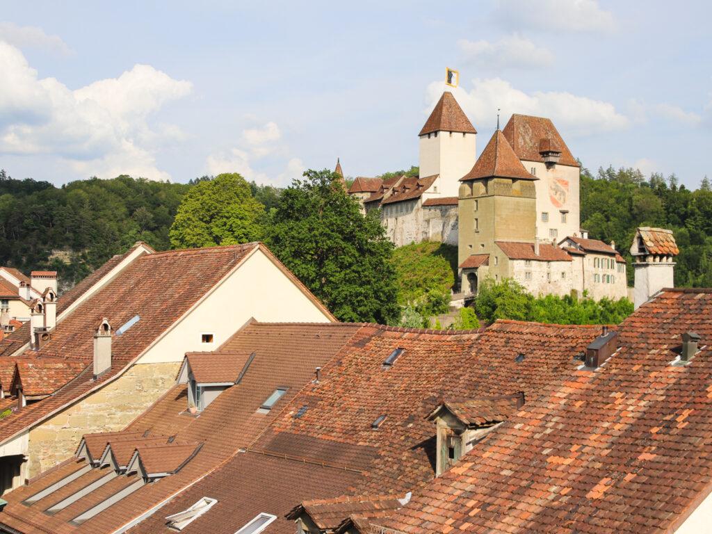Vista sui tetti di Burgdorf dall'hotel Orchidee