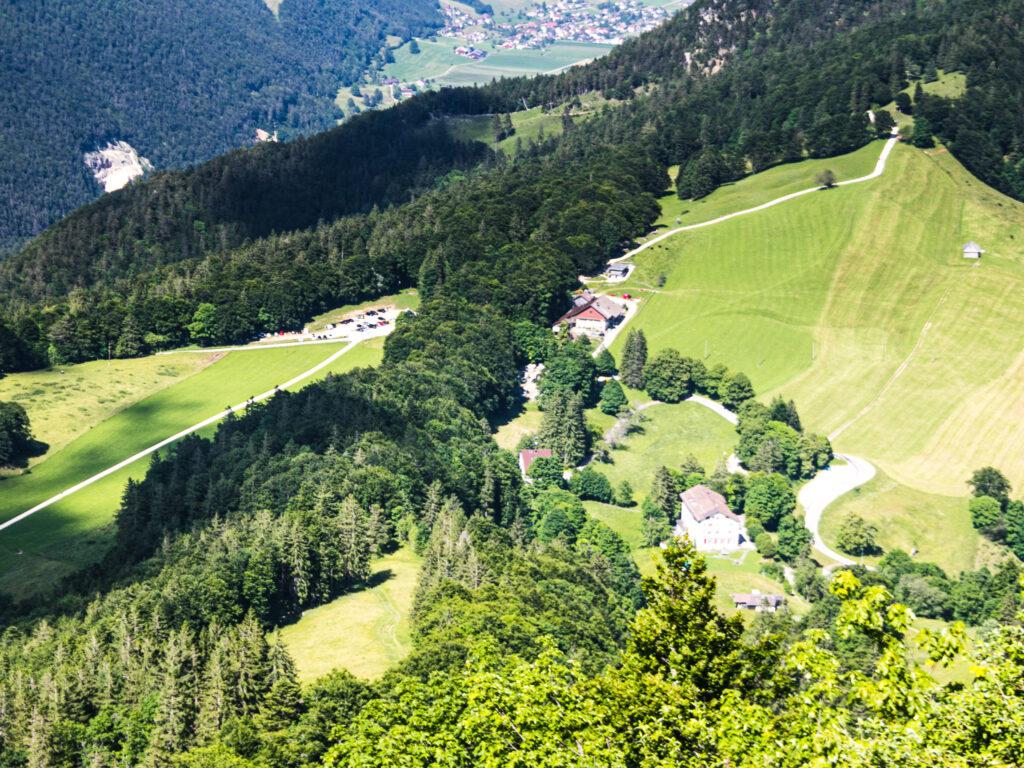 Vista dal belvedere Röti